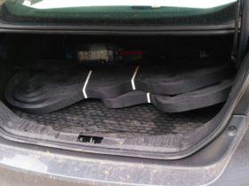 Объёмная георешетка от ЕвроДор легко помещается в багажник легкового авто