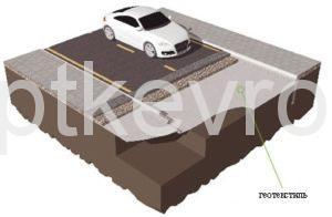 Геотекстиль ЕвроДор укрепление дорог и дорожек