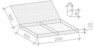 Матрац ЕвроДор из сетки двойного кручения 2х1х0,12 м