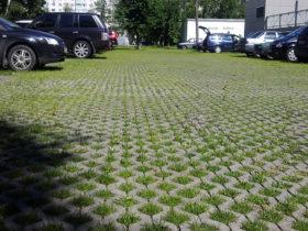 Бетонная газонная решетка типа Турфстоун от ЕвроДор
