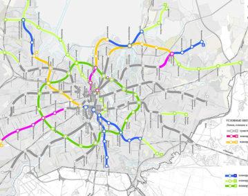 Перспективная схема метрополитена до 2025 г.