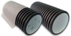 Дренажные трубы в фильтре и без от ЕвроДор