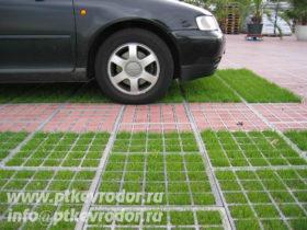 Пример бетонной газонной решетки от ЕвроДор