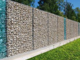 Забор из габионов с эрклёзом от ЗнаКо
